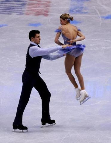 James Morgan and Alex Shaughnessy compete during the championship free skate.